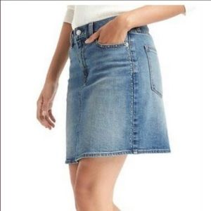 Gap 1969 Studded Denim Skirt Medium Wash Size 29